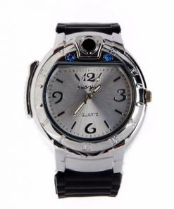 Buy Refillable Butane Gas Cigarette Lighter Watch Silver Nigeria 2