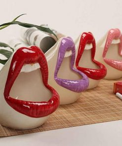 Lips Shape Ceramic Ashtrays