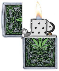 Zippo Windproof Cypress Hill With Marijuana 420 Leaf 49010 Lighter