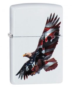 Zippo Windproof Lighter With Eagle U.S. Flag and Military 29418