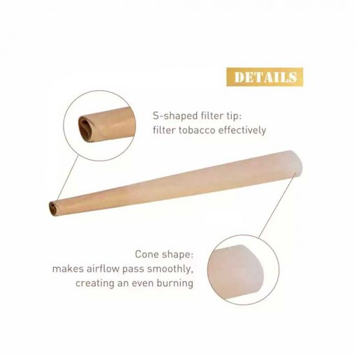 Organic Cigarette Pre-Rolled Cones Rolling Papers with Tips